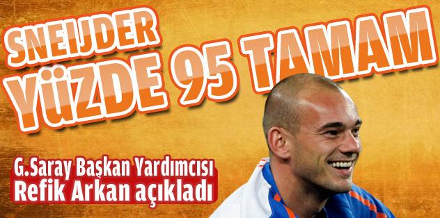 Sneijder yüzde 95 tamam
