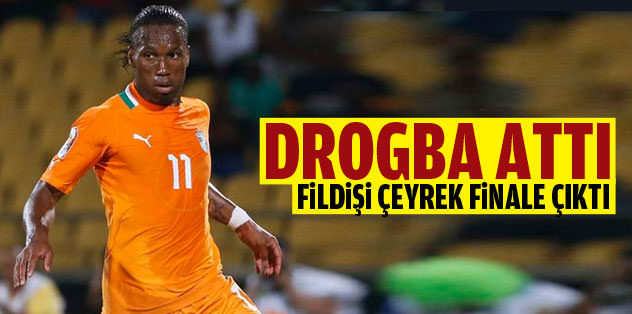 Drogba attı Fildişi çeyrek finale çıktı!