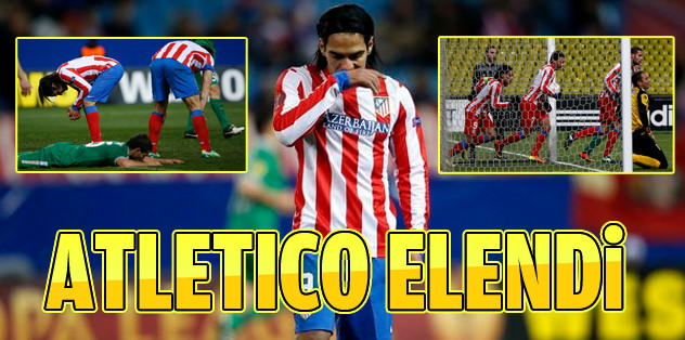 Son şampiyon Atletico Madrid elendi!
