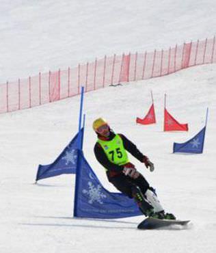 Snowboard Türkiye �ampiyonas� ba�lad�