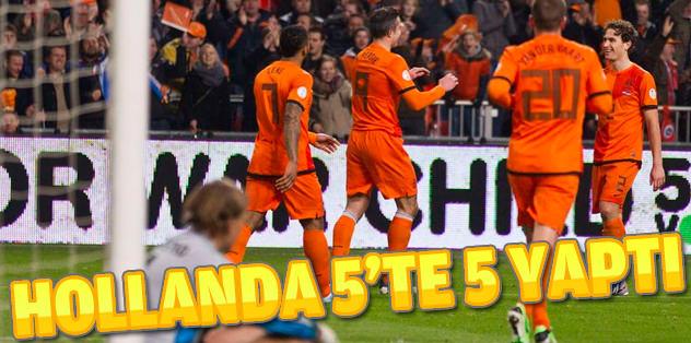 Hollanda 3 puanı 3 golle aldı