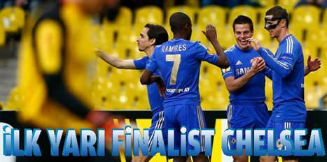 İlk yarı finalist Chelsea