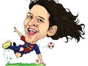 Ünlü futbolcuların karikatürleri