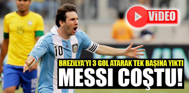 Messi Brezilya'yı tek başına yıktı