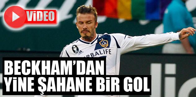 Beckham'dan yine şahane bir gol!