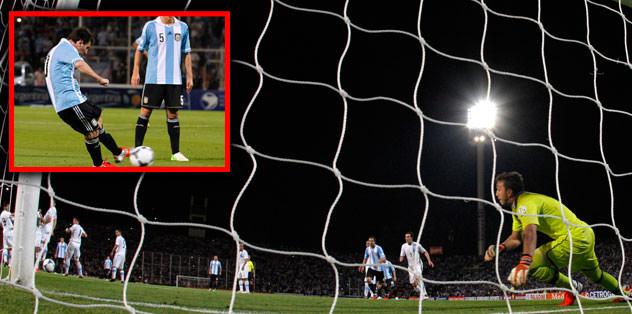 Messi Muslera'yı böyle avladı!
