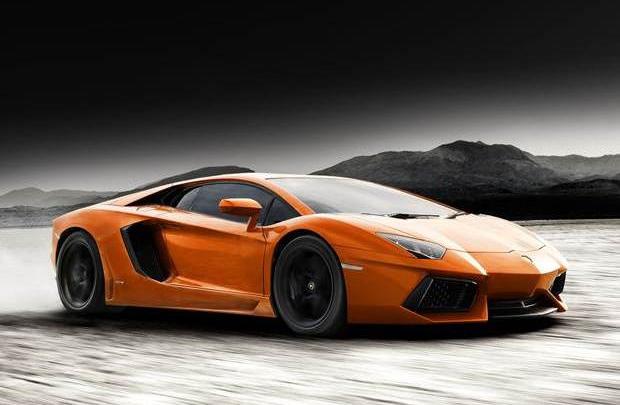 Lamborghini Aventador arenada