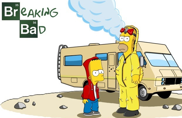 Simpsonlar Breaking Bad'e özendi