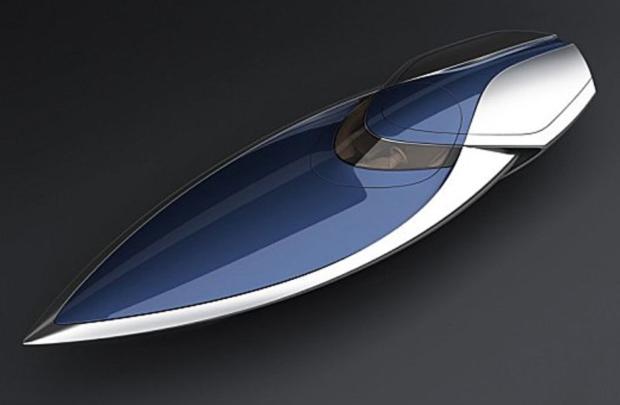Bugatti Veyron denize inerse