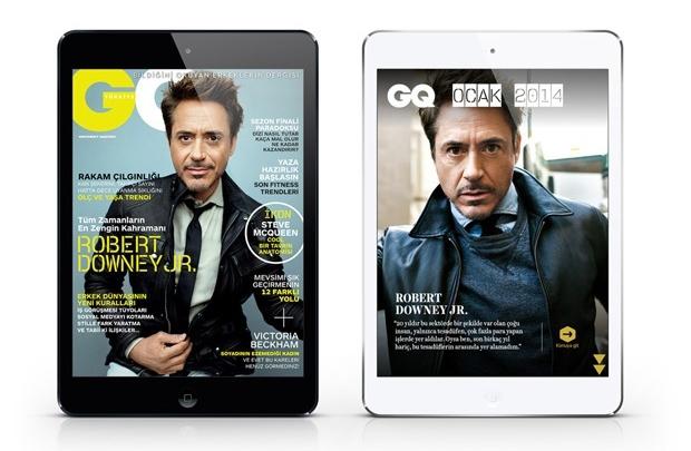 GQ Türkiye iPad Ocak sayısı