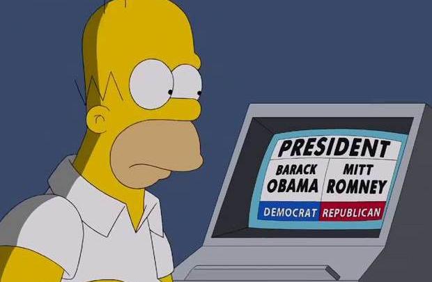 Homer Simpson sandık başında