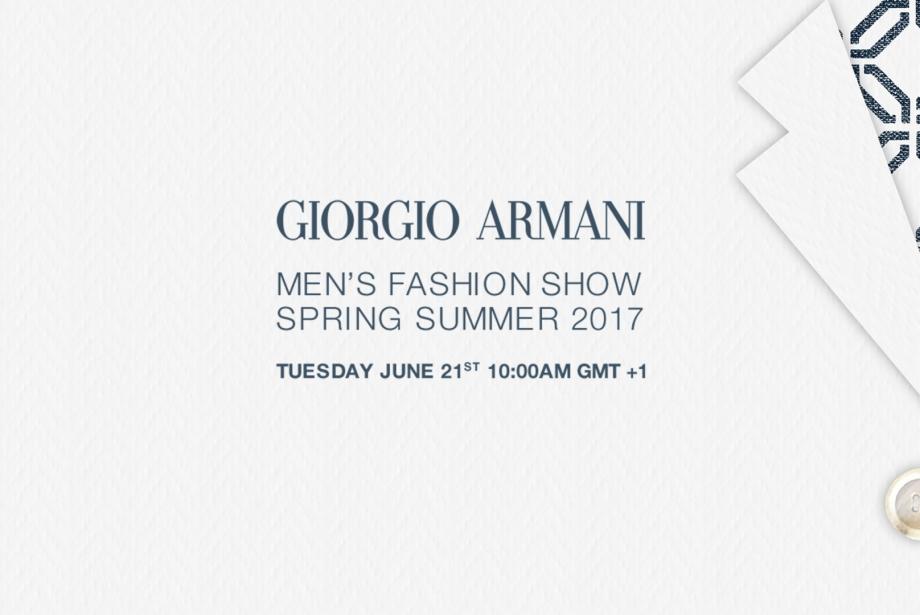 Giorgio Armani Milano Moda Haftası Canlı Yayın