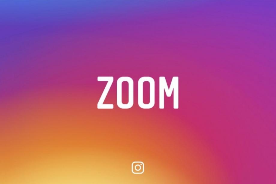 Instagram'a Zoom, Parmaklara Şenlik Geldi