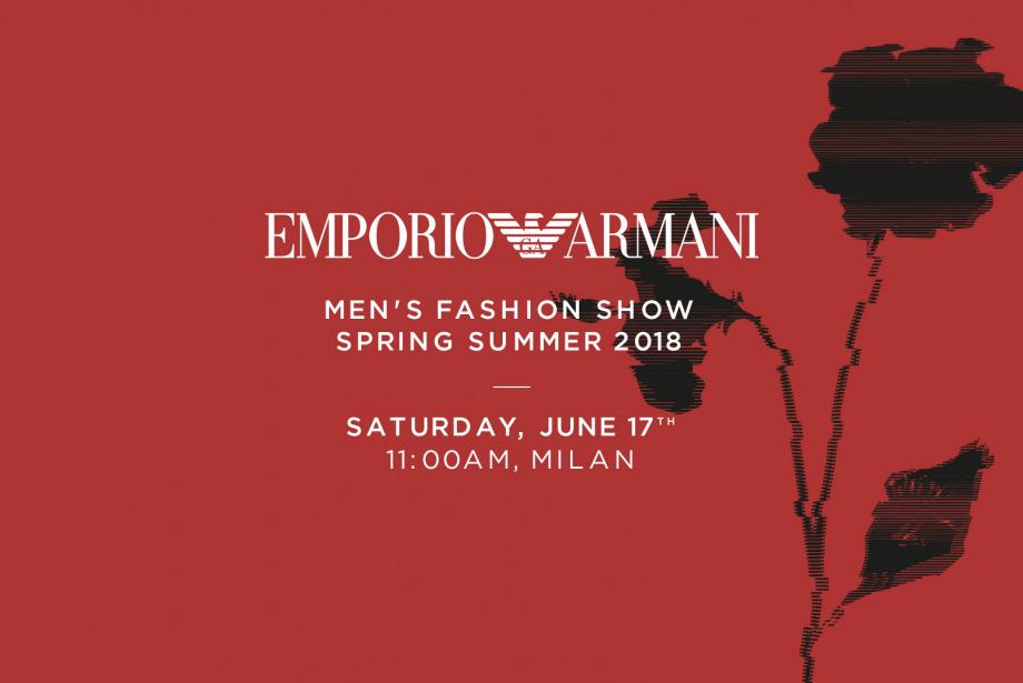 CANLI: 12:00'da Emporio Armani İlkbahar/Yaz 2018 Defilesi