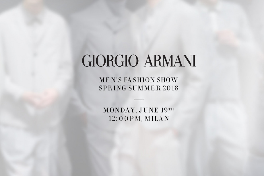 CANLI: 13:00'da Giorgio Armani İlkbahar/Yaz 2018 Defilesi