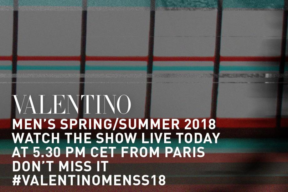 CANLI: 18:30'da Valentino İlkbahar/Yaz 2018 Defilesi