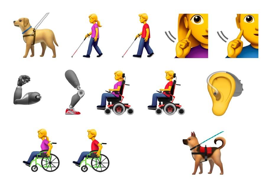 Apple'ın engelsiz emojileri