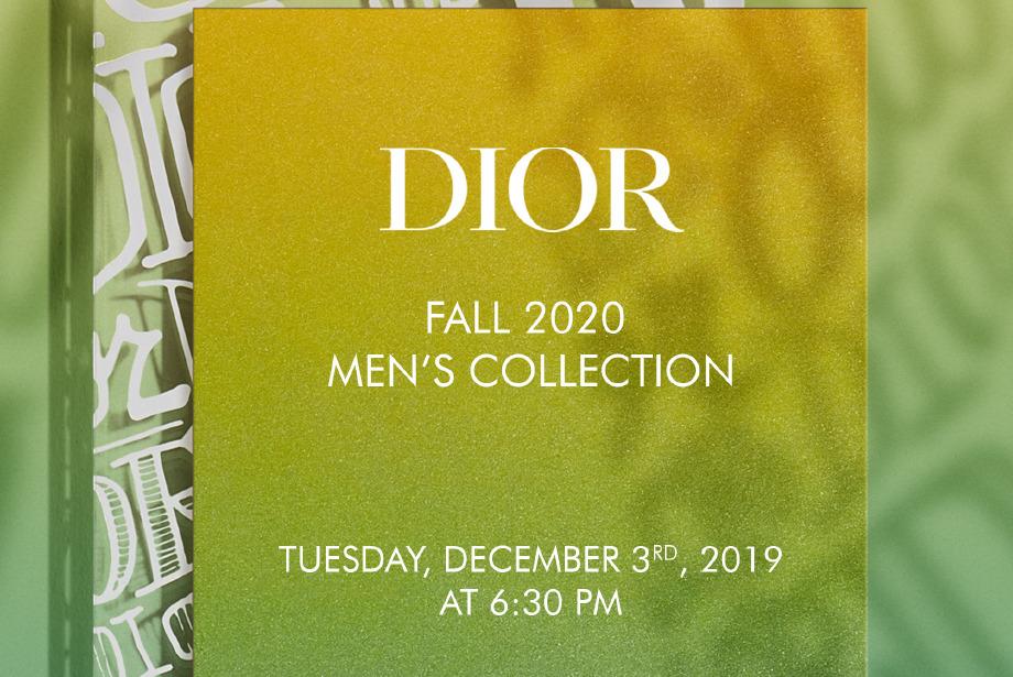Dior Sonbahar 2020 Erkek Defilesini Canlı İzleyin!