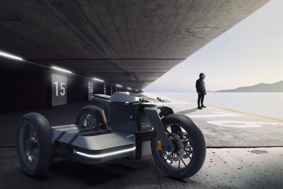 BMW İçin Hazırlanan Fütüristik Konsept Motosiklet