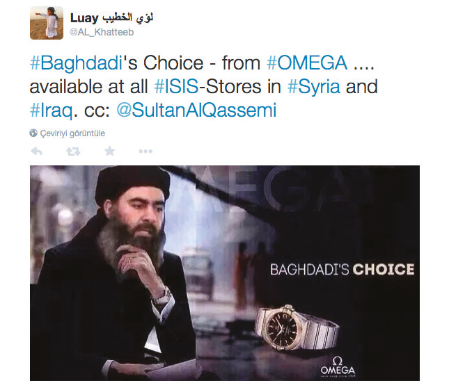 Bağdadi'nin seçimi – Omega'dan… Irak ve Suriye'de tüm DAEŞ mağazalarında.