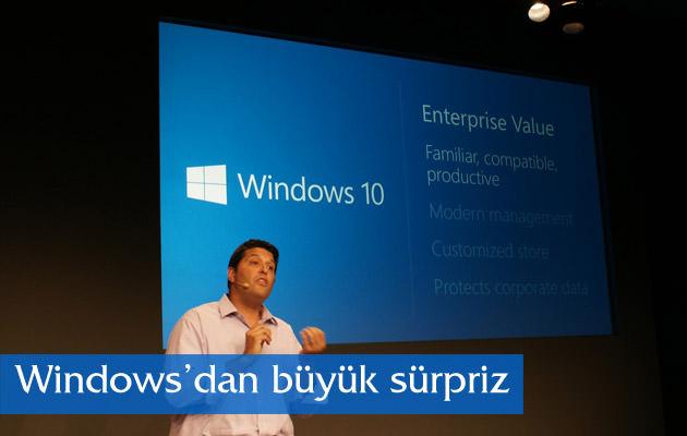 Windows'dan büyük sürpriz