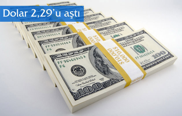Dolar 2,29'u aştı