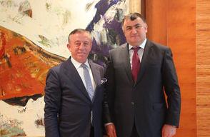 Dünya Ahıska Türkleri Birliği Başkanı Kassanov'dan Ağaoğlu'na Ziyaret
