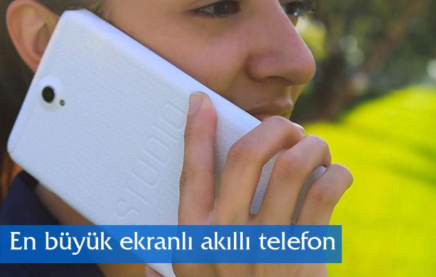 En büyük ekranlı akıllı telefon tanıtıldı