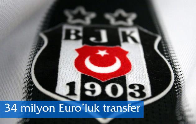 Beşiktaş'tan 34 milyon Euro'luk transfer