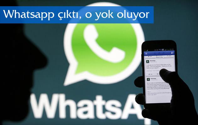 Whatsapp yüzünden cazibesini yitiriyor