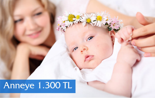 3 çocuk doğuran anneye 1.300 TL