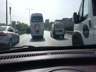 İstanbul trafiğinde böyle makas attılar