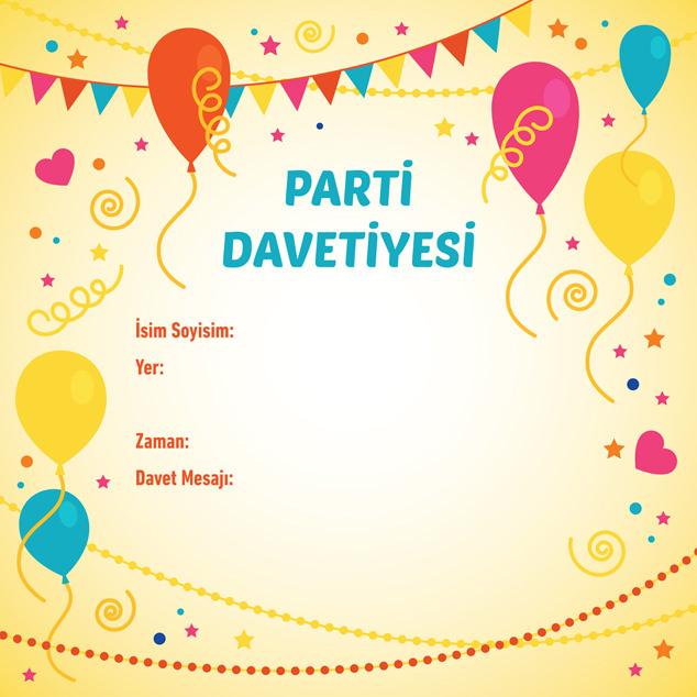 Parti Davetiyesi 8