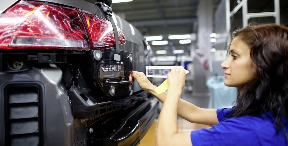 Volkswagen Golf'�n �retimi Durduruldu
