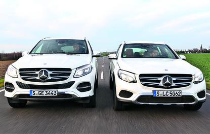 Karşılaştırma · Mercedes GLE – GLC