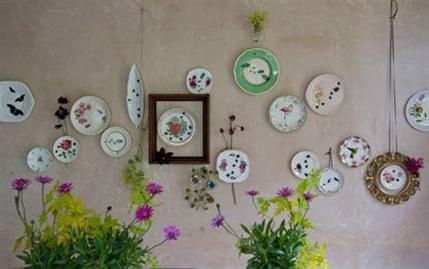 Porselen tabaklarla dekorasyon