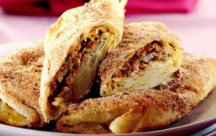 Tavuklu ve Sebzeli Zarf Böreği