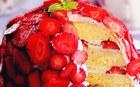 En ��k ve leziz 8 �ilekli pasta tarifi