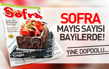 Sofra May�s 2016 say�s� bayilerde!