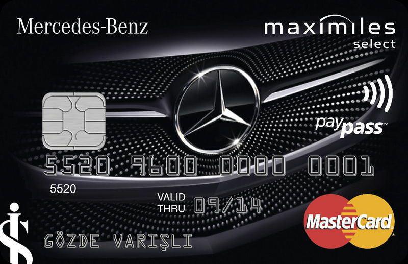 ��'ten Mercedes'i olana özel kart