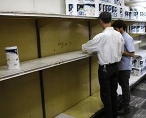 Venezuela'da tuvalet ka��d� bitti