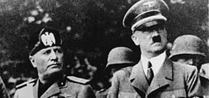 1936 - Adolf Hitler ve Benito Mussolini, Roma-Berlin güç ekseni'ni olu�turdu.