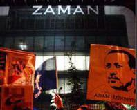 AK Partililer'den Zaman'�n önünde sevinç gösterisi