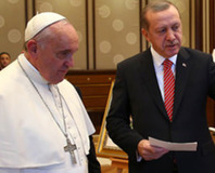 Erdo�an, Papa'ya Fatih'in Bosna ferman�n� hediye etti