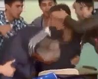 Ö�renci ö�retmenini böyle dövdü