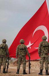 Kobani sınırına dev Türk bayrağı