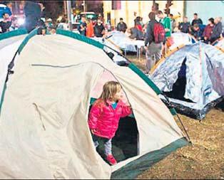 Rothschild Meydanına Gezi çadırı