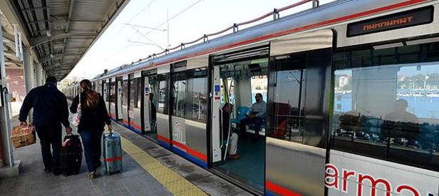 Taksim metrosu raydan çıktı
