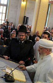 Sinagog açılışında Erdoğan için dua ettiler