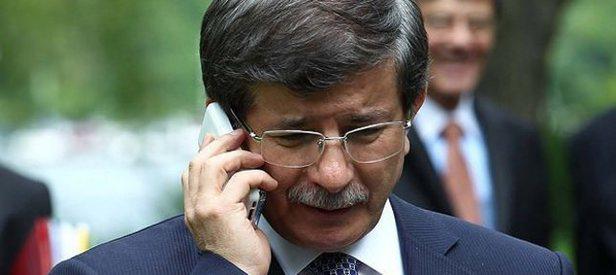 Davutoğlu o isimle telefonda görüştü